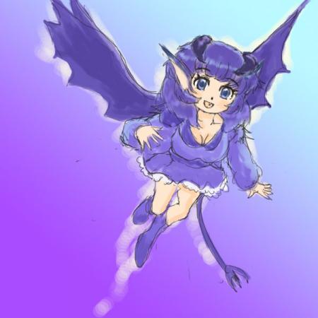 悪魔っ子飛ぶ