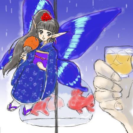 雨宿り精霊