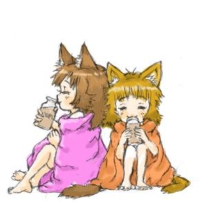 にゃんこ湯上りコーヒー牛乳3