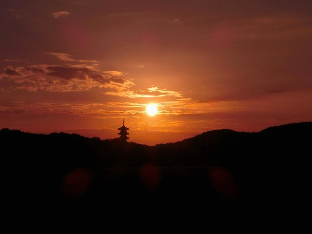 国分寺の夜明け1