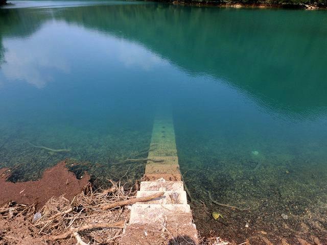 コバルトに染まる池6