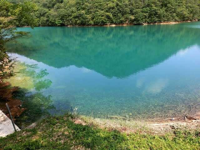 コバルトに染まる池7