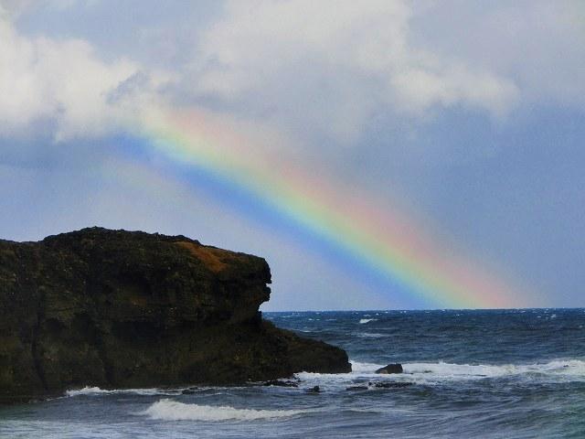 白兎海岸の虹1