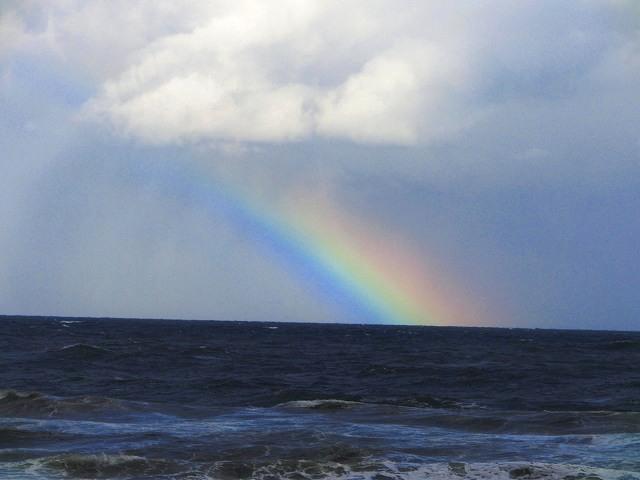 白兎海岸の虹3