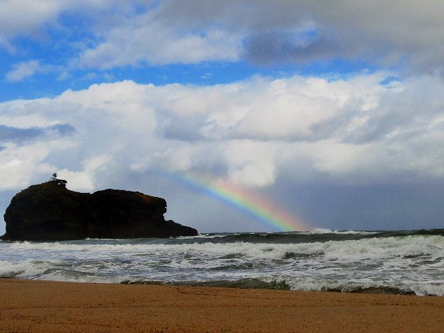 白兎海岸の虹4