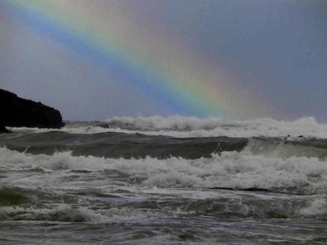 白兎海岸の虹5