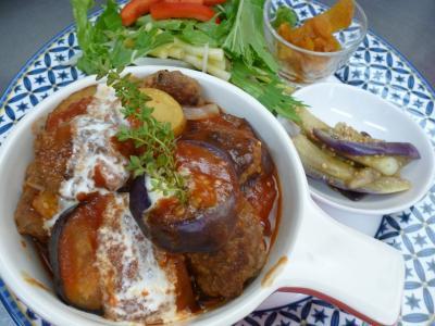 豚肉と野菜のトマトソース掛け