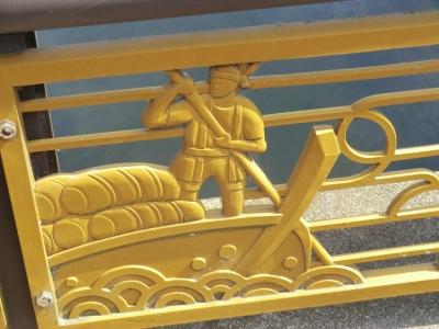 中川中央橋の欄干