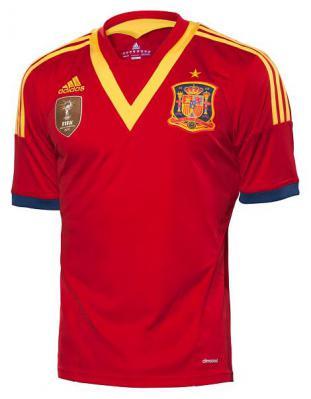 スペイン代表の新ユニフォームがメダルを下げてるみたい(画像あり)