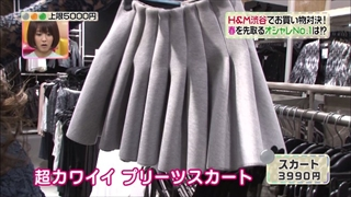 加賀美セイラ、プリーツスカート
