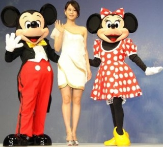 ミッキーマウス、堀北真希、ミニーマウス