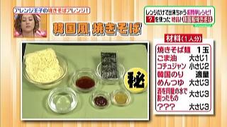 ヒルナンデス、有坂翔太の焼きそばアレンジ(韓国風焼きそば)の材料