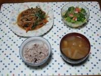 12/8 夕食 プルコギ、ブロッコリーのサラダ、大根の味噌汁、雑穀ごはん