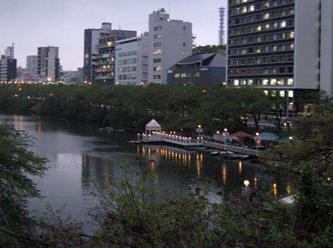 牛込橋から神田川