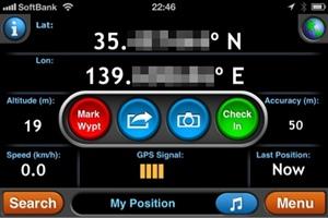 MotionX-GPS現在地