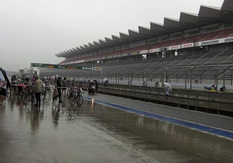 雨が降ってきて