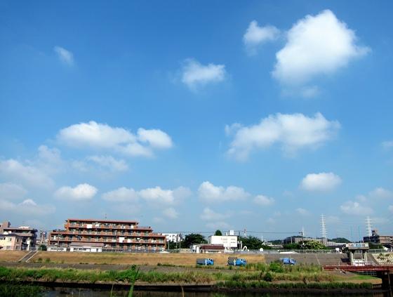 鶴見川対岸