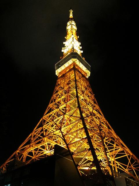 東京タワーライトアップ下から