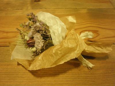 メゾクロさんドライ花束