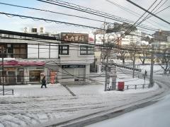 百合ヶ丘駅前2014.2.9
