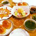 ジャーマンポテトのオムレツ朝食