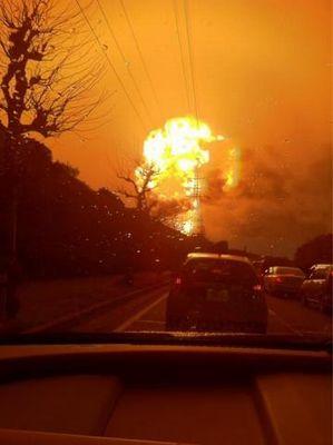 写真追1:1回目の爆発
