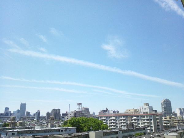 東京都23区上空 ケムトレイル