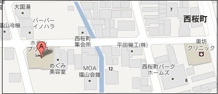 福山市 ホテルプリンス 地図