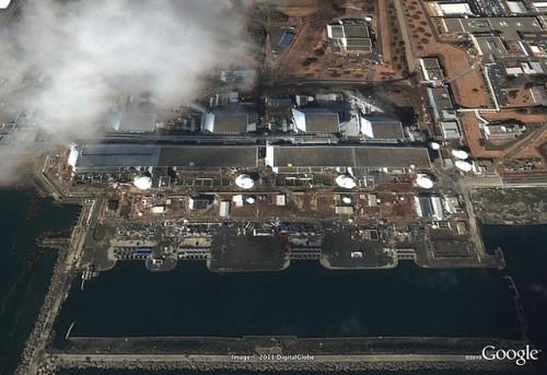 福島第一原発 津波後 2011年3月12日
