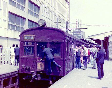 1973年春 国電立川駅 青梅線ホーム