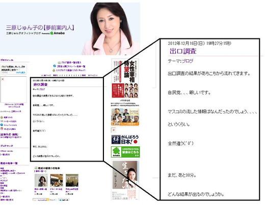 三原じゅん子 ブログ