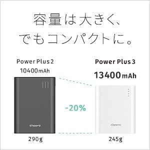 サンヨー cheero Power Plus 3