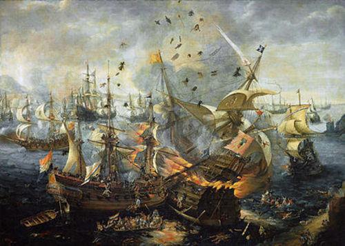 イングランド海軍 スペイン海軍の本拠地カディズを襲撃