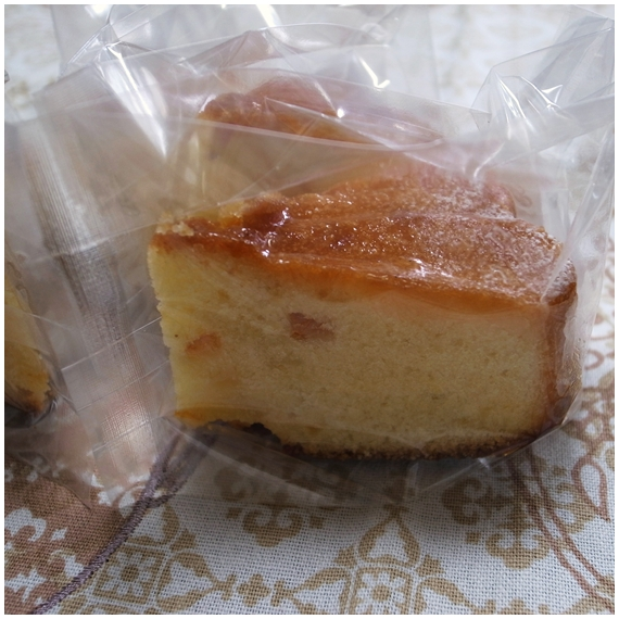 オレンジケーキカット