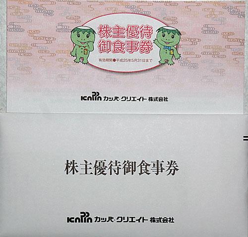 カッパ・クリエイト株主優待5