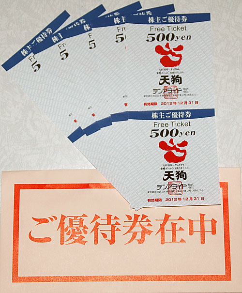 テンアライド株主優待6