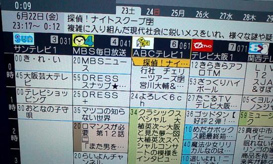 テレビ 関西 表 の 番組