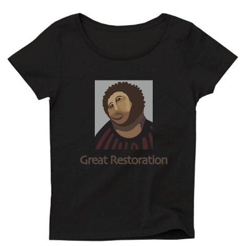 フレスコ画 Tシャツ(黒)