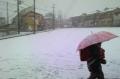 下校時の雪