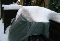 自転車カバーの積雪