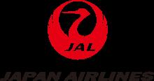 鶴丸(新バージョン、下記参照)と社名(英語)のロゴ(左)。なお、鶴丸(鶴の丸)とはもともと家紋の一種で、右のようなものである。