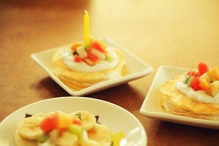 バースデーパンケーキ