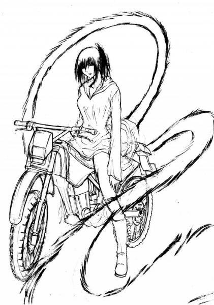 バイクとしっぽ