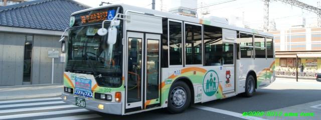 尼崎交通事業振興初の新製車両、22-202(ふそう・エアロスターノンステップバス)
