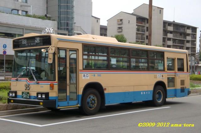 猪名川最後の95年式、宝塚大学シャトルバス用の582(U-LV318K)