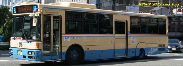 2011年8月に茨木より転入、日デ製最終グループの4021(PKG-RA274MAN)
