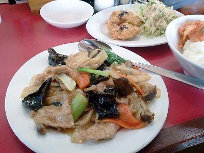 台湾料理 九龍閣 ランチセット 炒め物