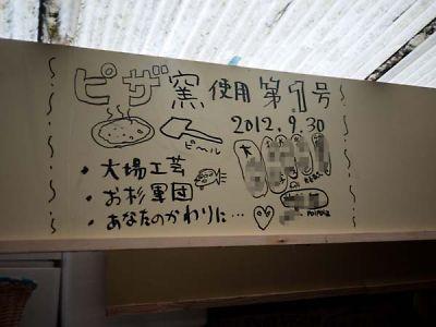 ネオ・キタロー村 石窯ピザ利用第1号記念