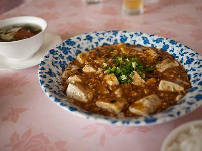 紅楼 胡麻豆腐の麻婆豆腐