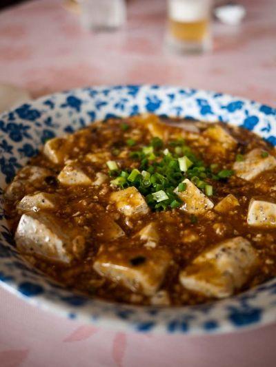 中国家庭料理 紅楼 胡麻豆腐の麻婆豆腐